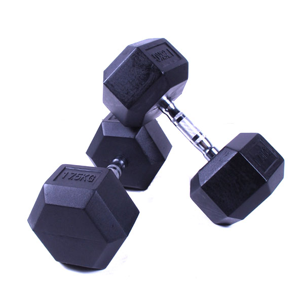 hex rubber dumbbell